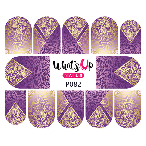Whats Up Nails - P082 Twisted Teardrop Water Decals