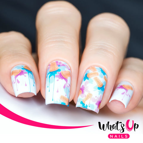 Whats Up Nails - P084 Splatter Cones Water Decals