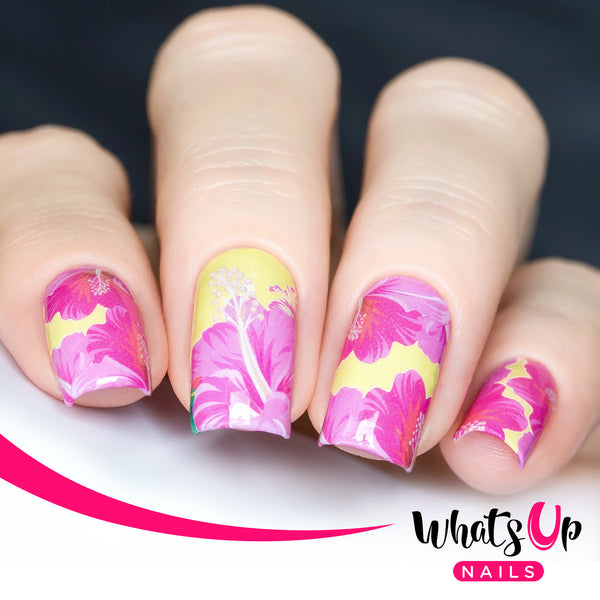 Whats Up Nails - P085 Frilly Hibiscus Water Decals