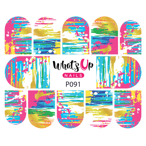 Whats Up Nails - P091 Abstract Mind Water Decals