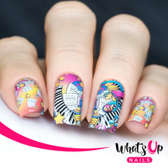 Whats Up Nails - P099 Play That Music Water Decals