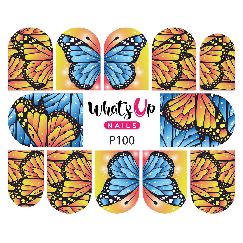 Whats Up Nails - P100 Flying Flowers Water Decals