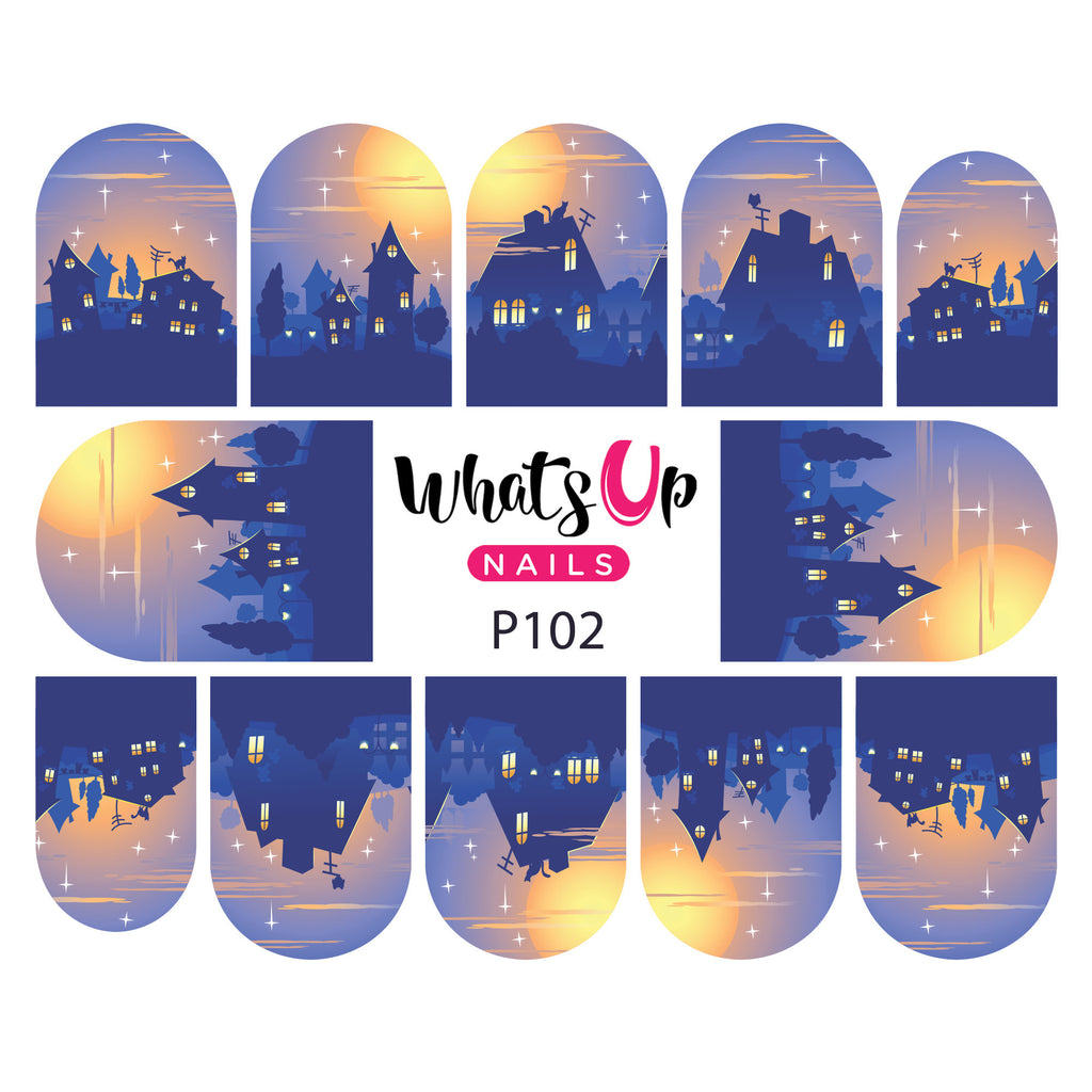 Whats Up Nails - P102 Home at Dusk Water Decals