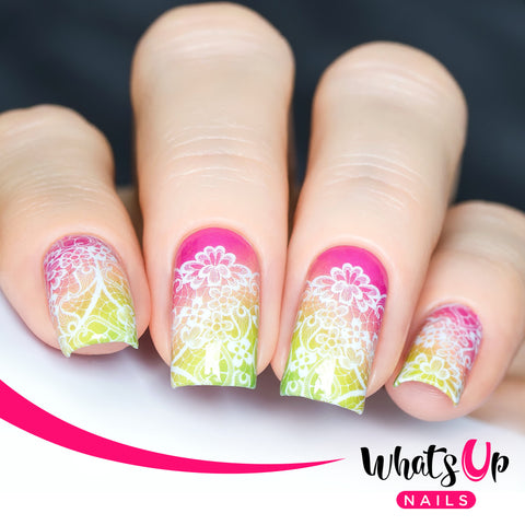 Whats Up Nails - P115 Watermelon Lace Water Decals