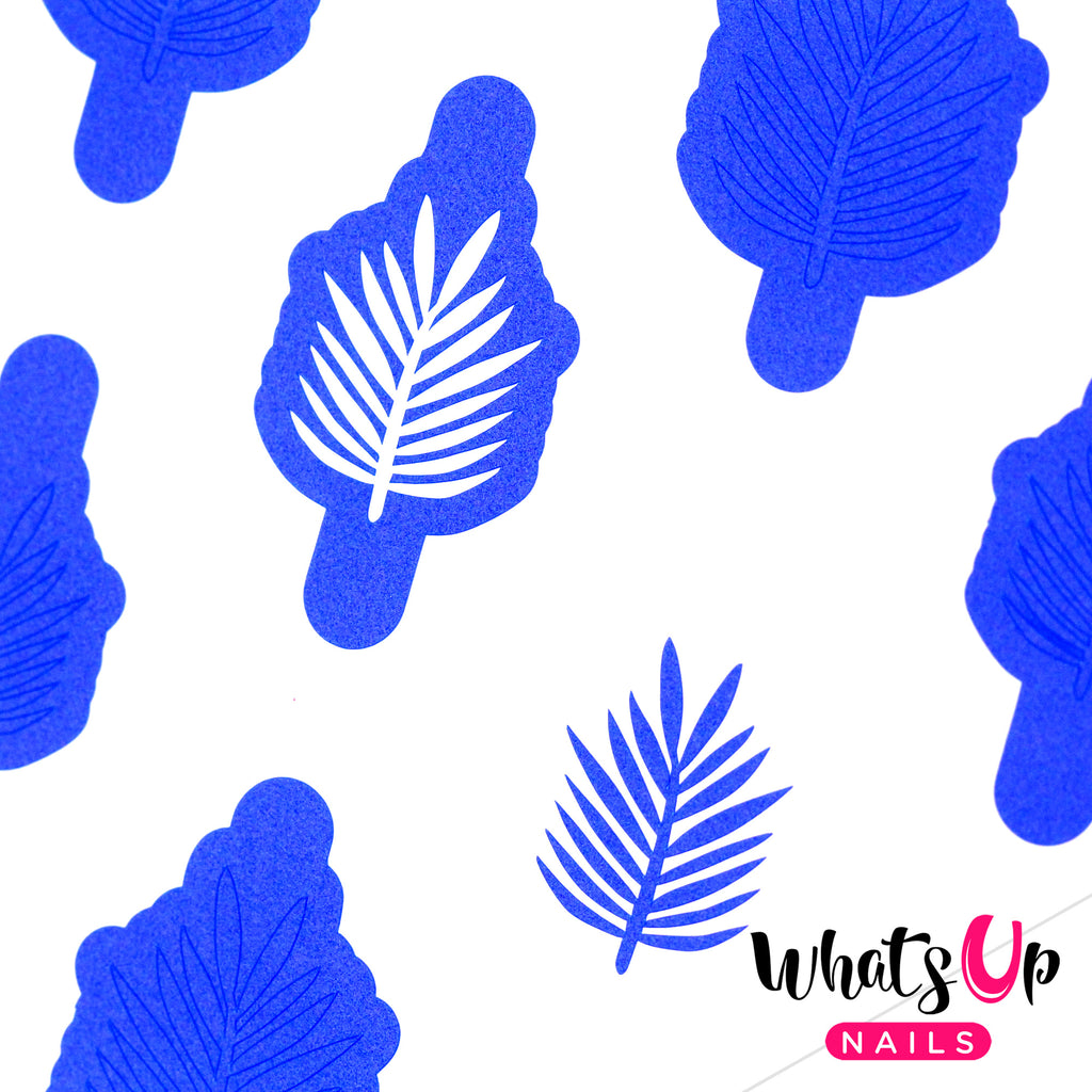 Whats Up Nails - Palm Leaf Stencils