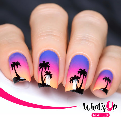 Whats Up Nails - Palm Stencils