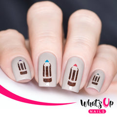 Whats Up Nails - Pencil Stencils
