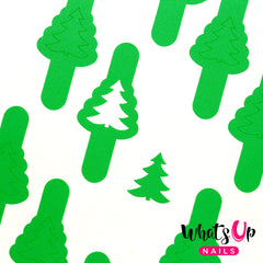Whats Up Nails - Pine Tree Stencils