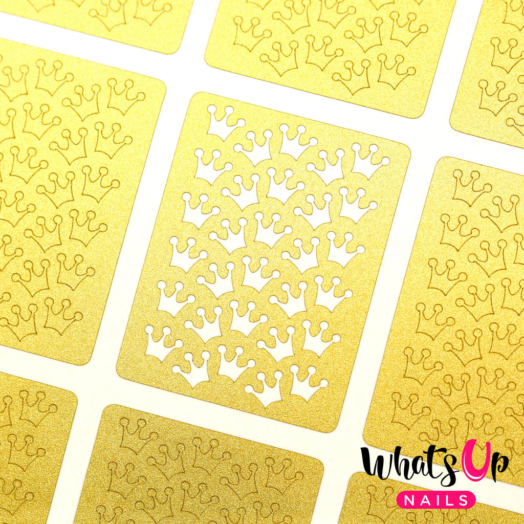 Whats Up Nails - Princess Crowns Stencils