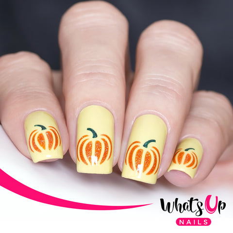 Whats Up Nails - Pumpkin Stencils