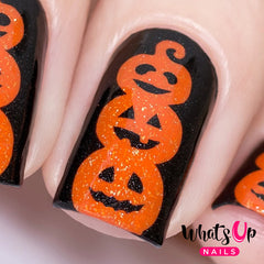 Whats Up Nails - Pumpkin Topiary Stencils