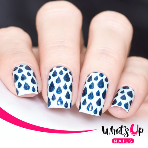 Whats Up Nails - Rain Stencils