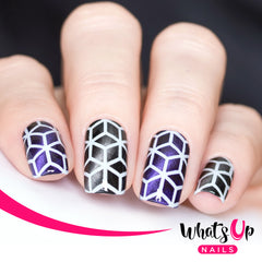 Whats Up Nails - Rhombus Stencils
