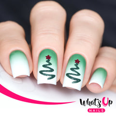 Whats Up Nails - Ribbon Tree Stencils