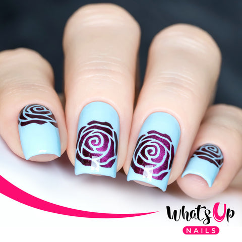 Whats Up Nails - Rose Petals Stencils
