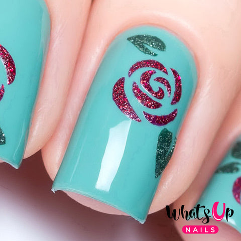 Whats Up Nails - Roses Stencils