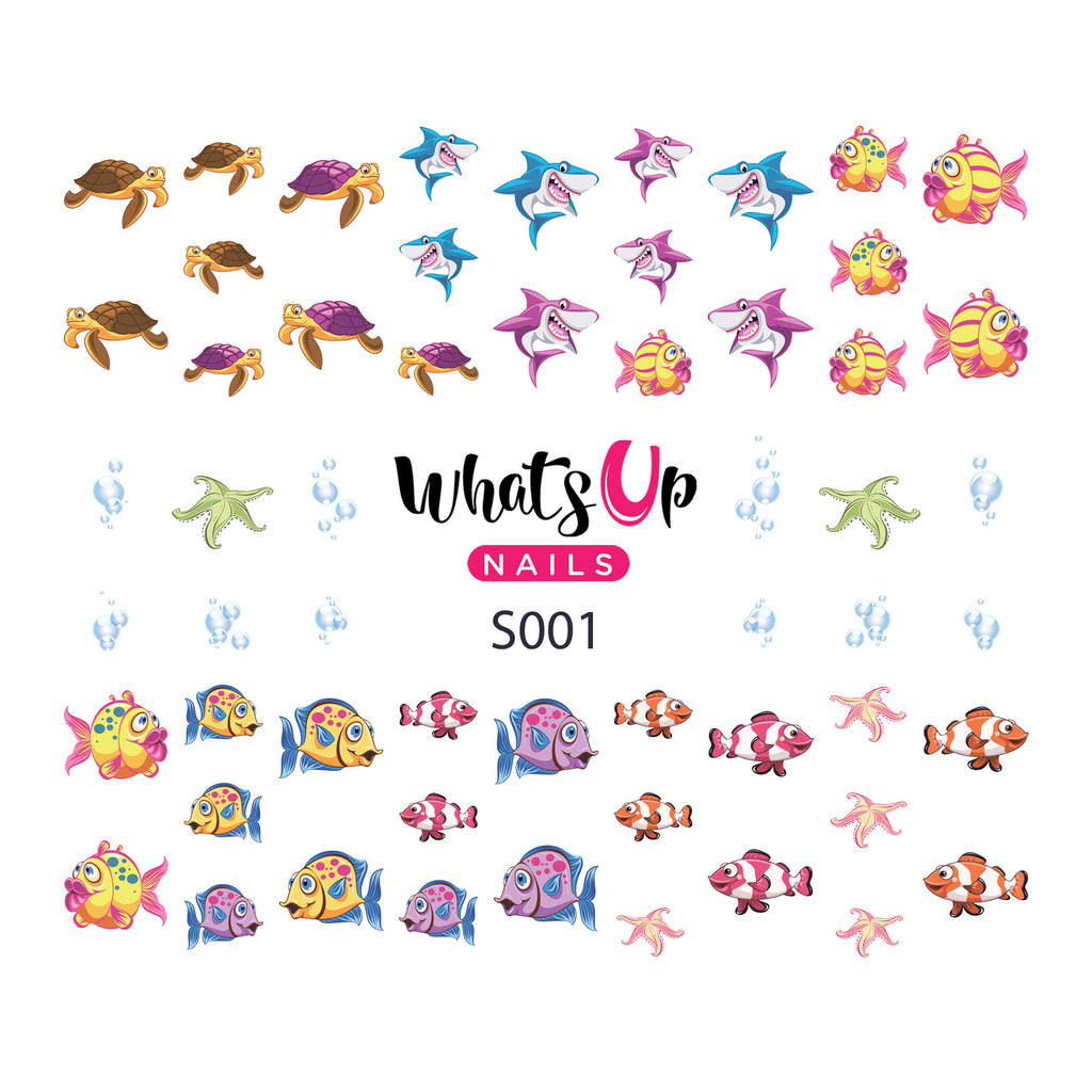 Whats Up Nails - S001 Under the Sea Water Decals