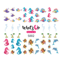 Whats Up Nails - S002 Ocean Bottom Water Decals