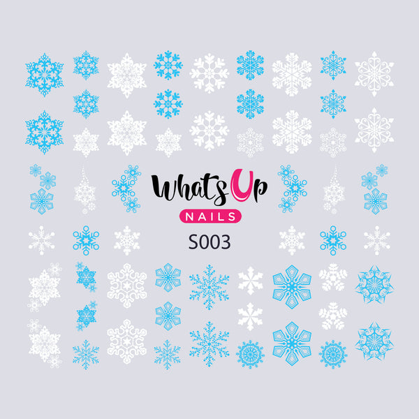 Whats Up Nails - S003 Winter Crystals Water Decals