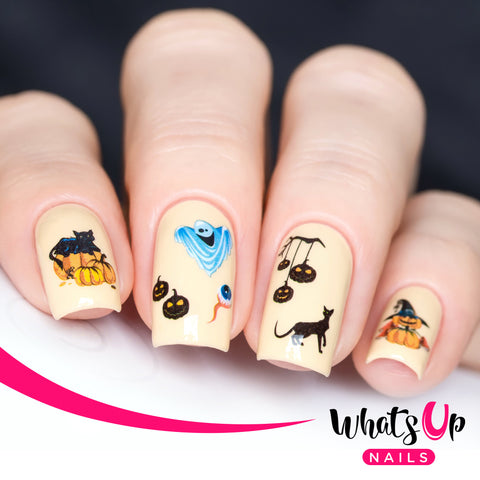 Whats Up Nails - S004 All Things Scary Water Decals