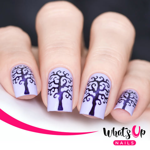 Whats Up Nails - Scary Tree Stencils
