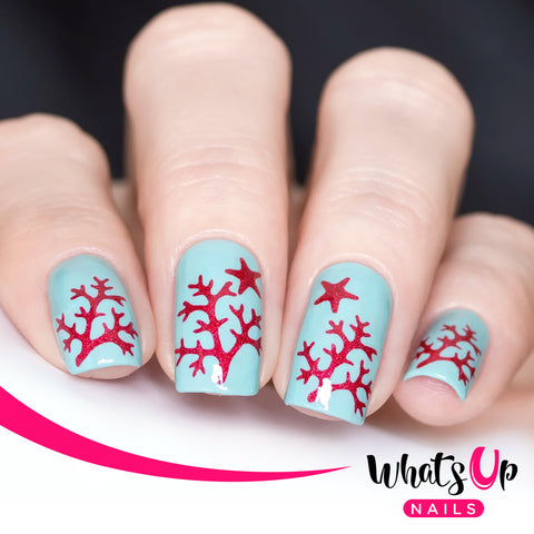 Whats Up Nails - Sea Star and Coral Stencils