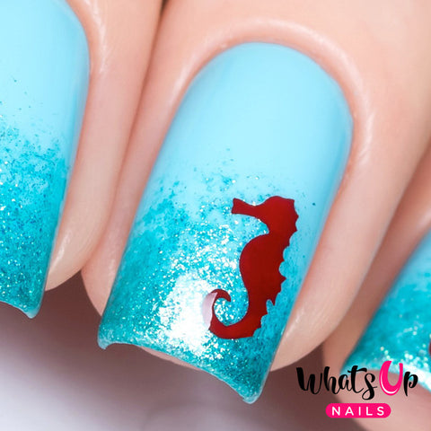 Whats Up Nails - Seahorse Stencils