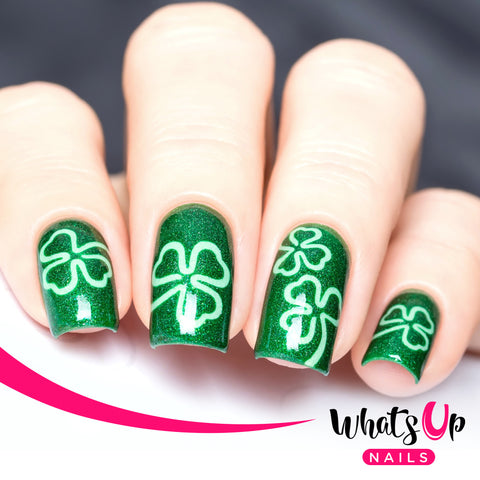 Whats Up Nails - Shamrock Stencils