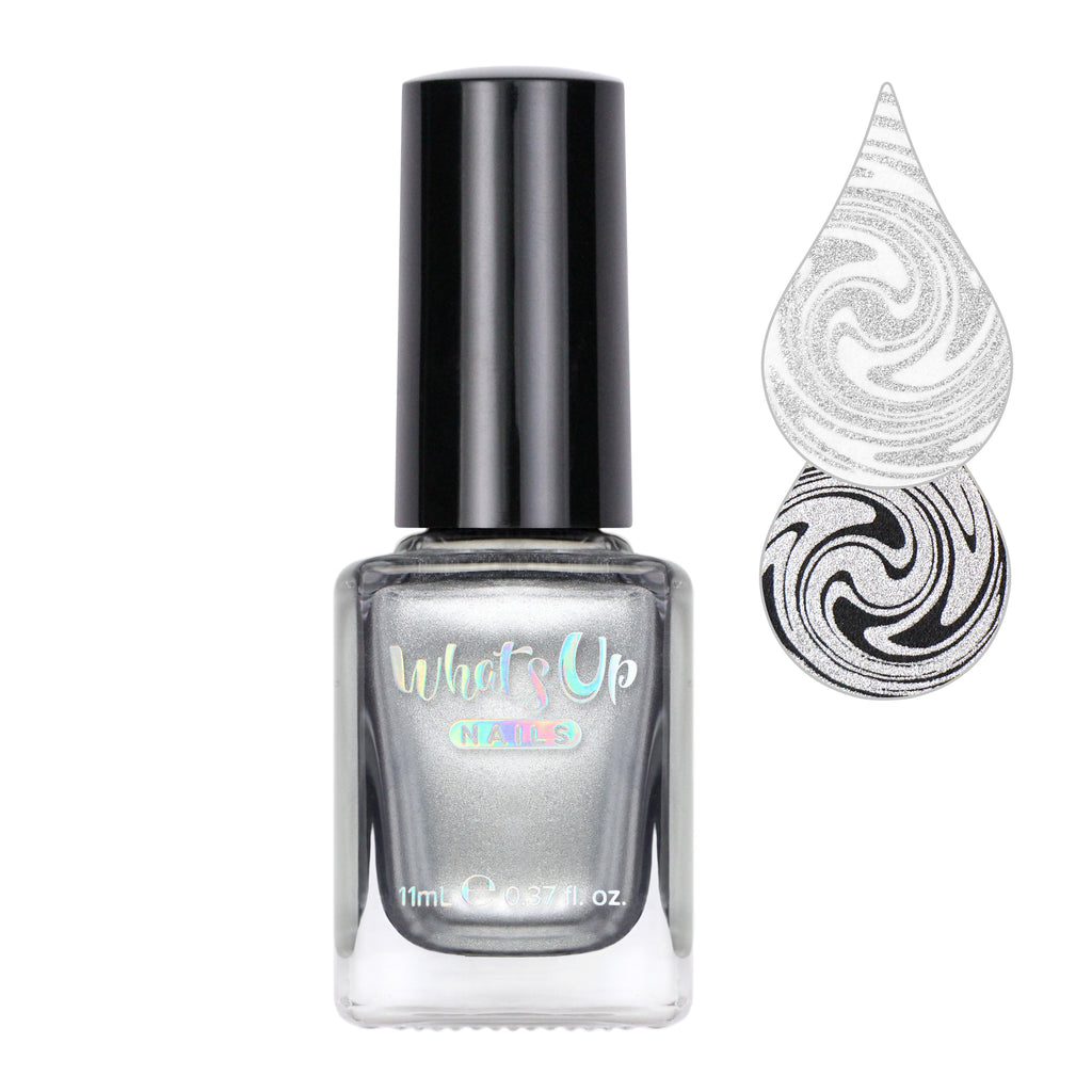Whats Up Nails - Silver Ag-ent Stamping Polish