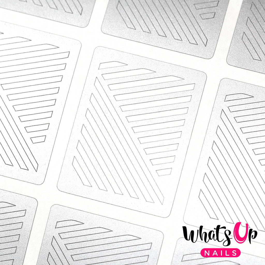 Whats Up Nails - Slanted Lines Stencils