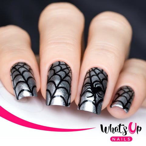 Whats Up Nails - Spider Web Stencils