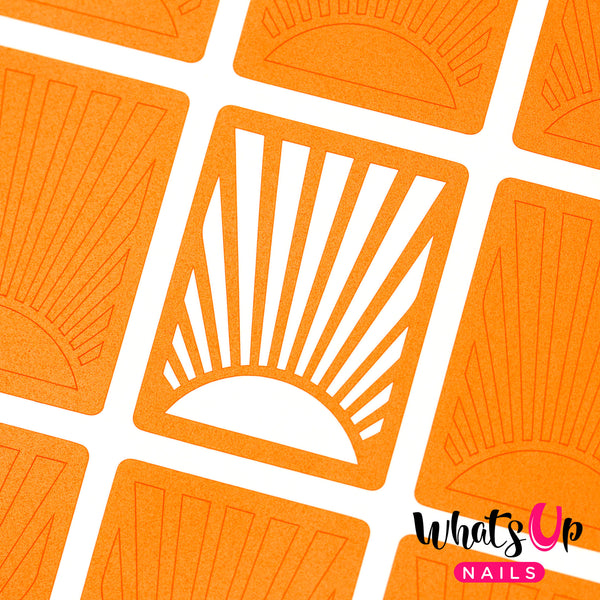 Whats Up Nails - Sunrise Stencils