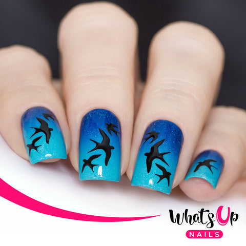 Whats Up Nails - Swallows Stencils