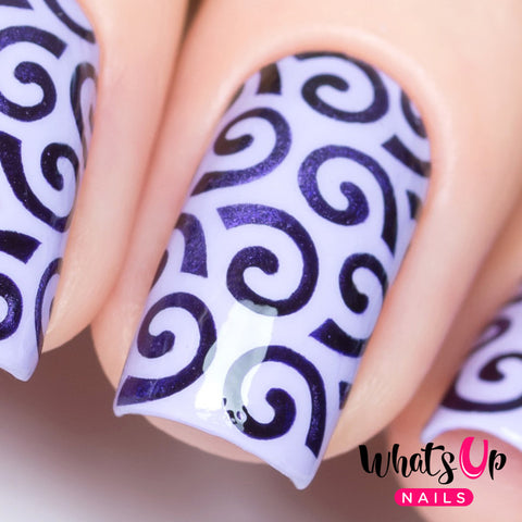 Whats Up Nails - Swirls Pattern Stencils