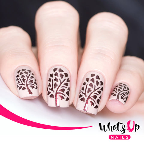 Whats Up Nails - Tree of Love Stencils
