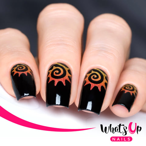 Whats Up Nails - Tribal Sun Stencils
