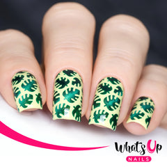Whats Up Nails - Tropical Leaves Stencils