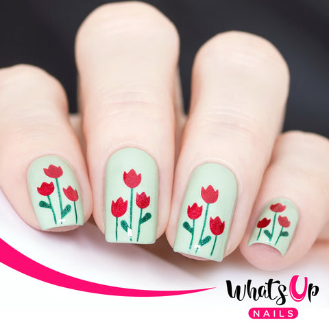 Whats Up Nails - Tulips Stencils