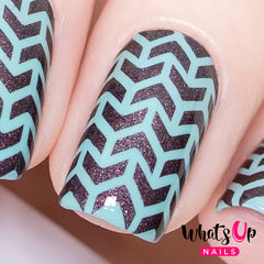 Whats Up Nails - V-Pattern Stencils
