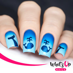 Whats Up Nails - Whale & Tale Stencils by gotnail