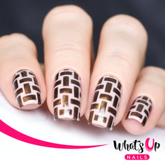 Whats Up Nails - Wicker Basket Stencils