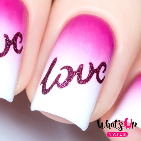 Whats Up Nails - Written With Love Stencils