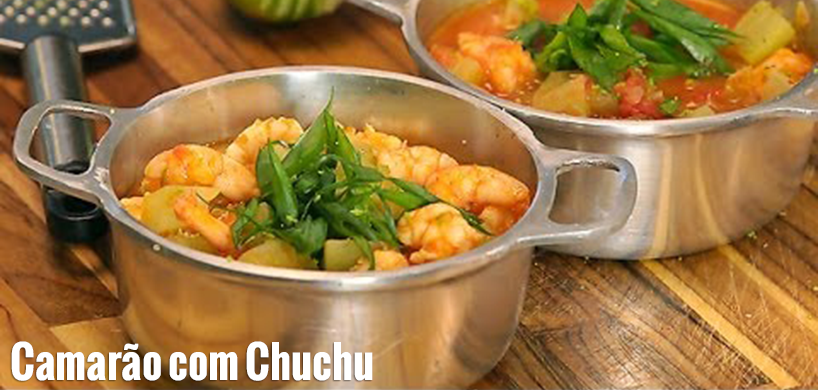 Shrimp with Chaoyte | Camarao com Chuchu