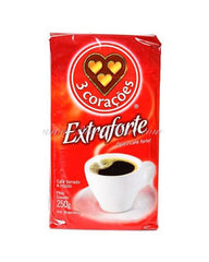 Coffee - 3 Coracoes Extra strong 250g | Cafe 3 Coracoes Extra Forte 250g
