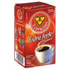 Coffee - 3 Coracoes Extra strong 500g | Cafe 3 Coracoes Extra Forte 500g