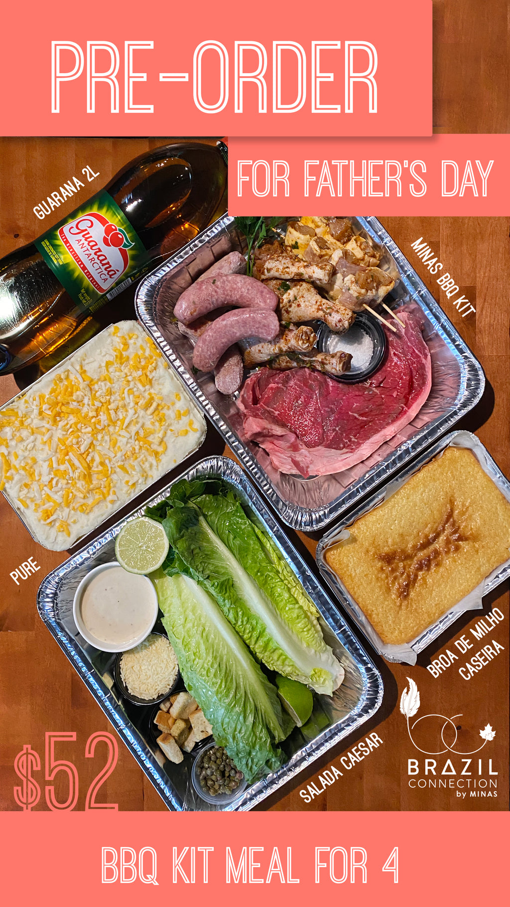 MINAS BBQ KIT - Father's Day Special for 4 people