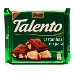 Talento Chocolate with Brazil Nuts | Chocolate Talento Castanha do Para