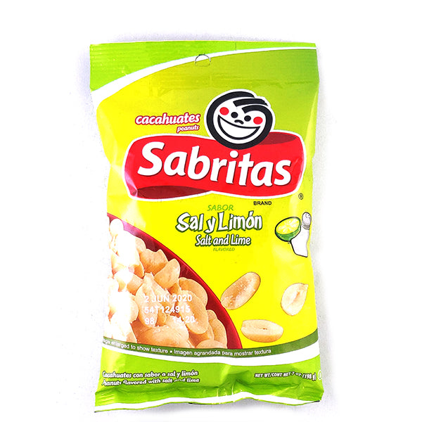 Sabritas Salt And Lime Peanuts | Amendoim Sabor Sal & Limao