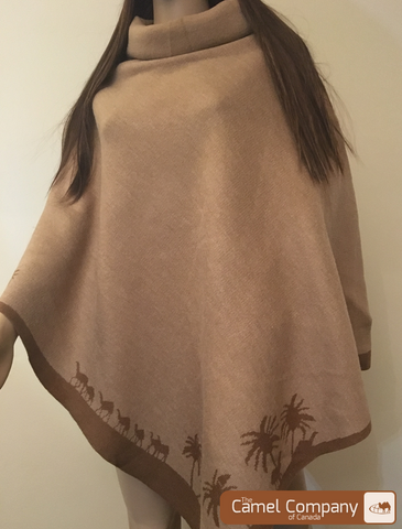 Blended Wool Poncho