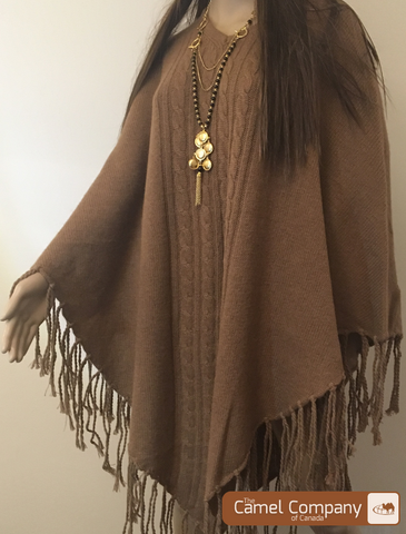 Camel Wool Poncho ( only turtle neck available)